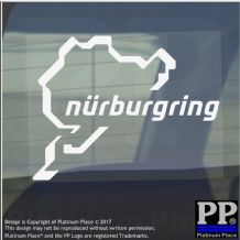 1 x Nurburgring Sticker-Car,Van,Window Sign-Race Racing Track-112mmx87mm
